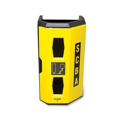 Allegro Safety High‐Viz Heavy Duty SCBA Wall Case Yellow 4125