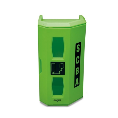 Allegro Safety High‐Viz Heavy Duty SCBA Wall Case Green 4150