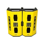 Allegro Safety Dual High‐Viz Heavy Duty SCBA Wall Case Yellow 4325