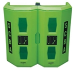 Allegro Safety Dual High‐Viz Heavy Duty SCBA Wall Case Green 4350