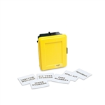 Allegro Safety Generic Medium Wall Case w/ Label Kit 4500