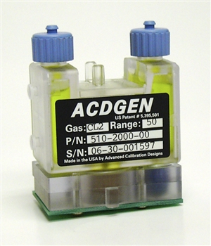 ACD CAL2000 Hydrogen sulfide H2S 100 Hour Source 0.5 - 50ppm 510-2050-20