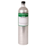 81-0154RK-02 RKI Calibration Gas Cylinder 58L H2S 25ppm, CO 50ppm, CH4 2.5%, O2 12% /N2