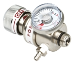 Calibration Gas Cylinder Regulator 0.5 LPM Fixed Flow Rate C10 Fitting