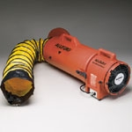 "9533 Allegro 8"" AC Plastic COM-PAX-IAL blower with Canister for Confined Space or manhole work."