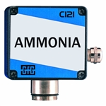 CI 21 GfG Fixed Transmitter Ammonia NH3 Carrier injection sensor unaffected by high gas concentrations low temp cross sensitivity